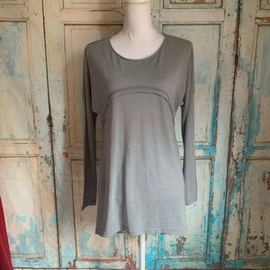 A'reve gray high low dolman long sleeve tee shirt